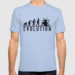 The Evolution Of Man And Drums T-shirt