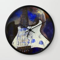 heavy metal Wall Clocks featuring Heavy Metal by Michael Creese