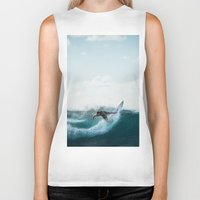 surfing Biker Tanks featuring Surfing  by Limitless Design