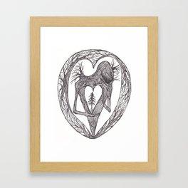 Sacred Pine Grove Of The Heart Framed Art Print