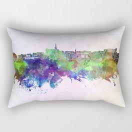 Geelong skyline in watercolor background Rectangular Pillow