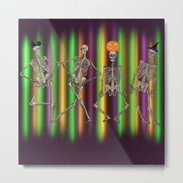Skeleton Dance Metal Print