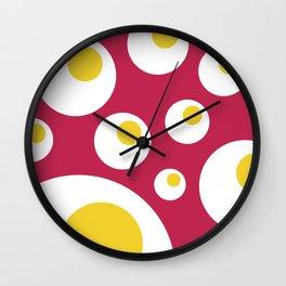 Fried Eggs Rebellion Wall Clock