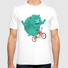 Bicycle Buffalo White Mens Fitted Tee SMALL