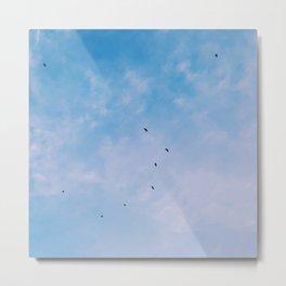 Pretty Blue Sky ft. Birds Metal Print