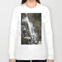 waterfall Long Sleeve T-shirts featuring Waterfall by Four Hands Art