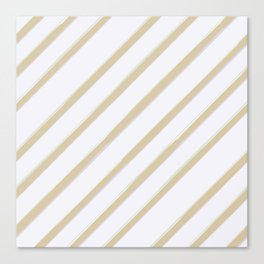 Diagonal golden stripes Canvas Print