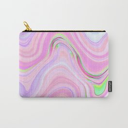 Pastel Pink & Violet Lava Marble Carry-All Pouch