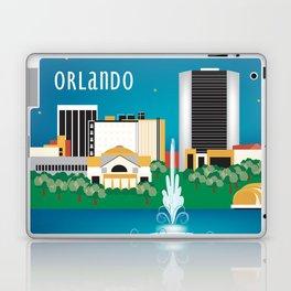 Orlando, Florida - Skyline Illustration by Loose Petals Laptop & iPad Skin
