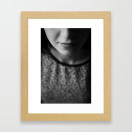 Woman in the shadow Framed Art Print