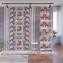 Täcke  Antique Swedish Skåne Rug Print Wall Mural