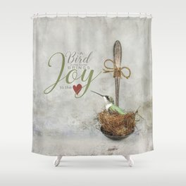 A Spoonful of Hummingbird Shower Curtain