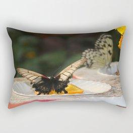 Butterfly Feeding Rectangular Pillow