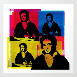 PERCY BYSSHE SHELLEY - ENGLISH POET, 4-UP POP ART COLLAGE Art Print