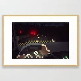 Night Drive Pixels Framed Art Print