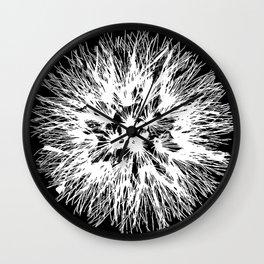 Make A Wish Dandelion Vector In White Wall Clock