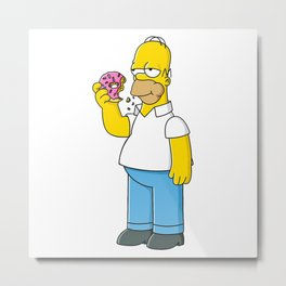simpson donut Metal Print
