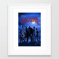 studio killers Framed Art Prints featuring Champion Killers - The Killers by Cazzbot