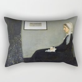 Arrangement in Grey and Black No.1 (Whistler's Mother) Rectangular Pillow