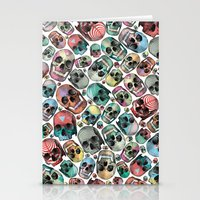 skulls Stationery Cards featuring Skulls by Devin McGrath