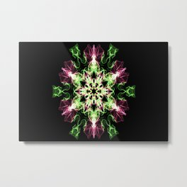 Watermelon Snowflake Metal Print
