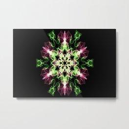 Watermelon Snowflake Metal Print