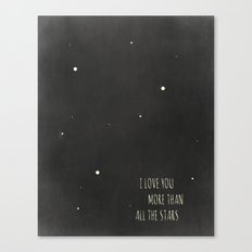 More Than All the Stars Canvas Print
