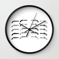 guns Wall Clocks featuring old guns by Dragonheart