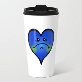 Sad Blue Heart Travel Mug