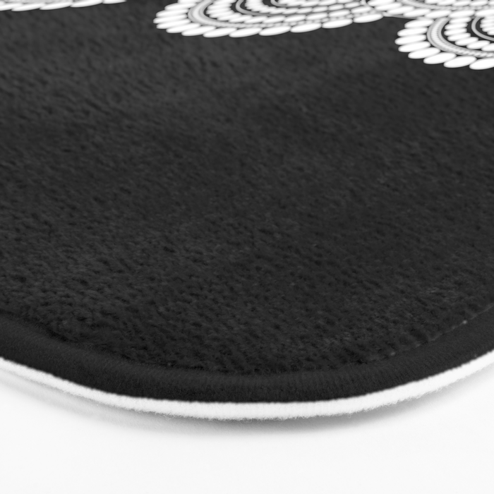 BLACK AND WHITE (abstract pattern) Bath Mat