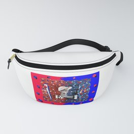 """""""Baseball',USA Art  Sports Series,Red,White And Blue. Fanny Pack"""