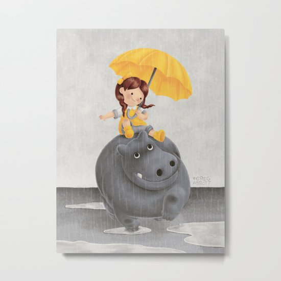 And It Poured Metal Print