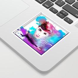 Audrey Hepburn Sticker