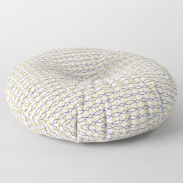 Pattern Blue and Yellow Floor Pillow