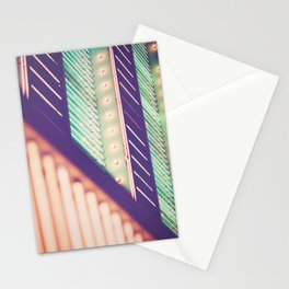 Turquoise Neon Stationery Cards