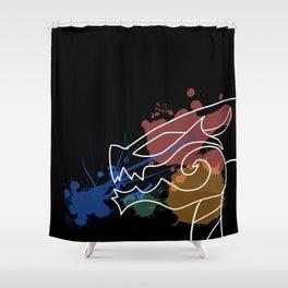 Black Dragon Art Shower Curtain
