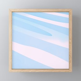 Pastell Lines 3D Element Forms  Framed Mini Art Print