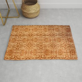 Oversized Vintage Turkish Oushak Carpet Print Rug