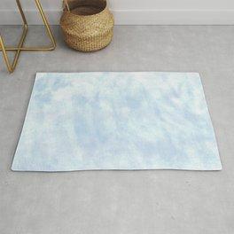 Simple blue minimal watercolor Rug