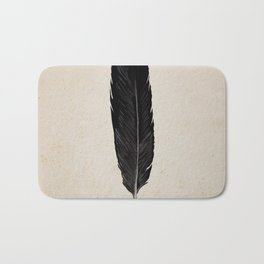 Raven Feather Bath Mat