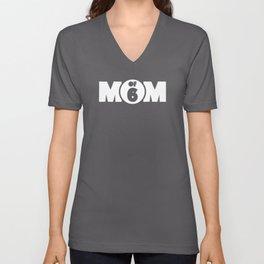 Mom Of 6 Unisex V-Neck
