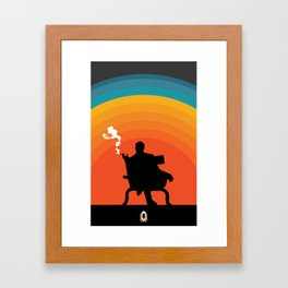 The illusive man Framed Art Print
