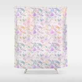 Modern lavender lilac pink watercolor floral Shower Curtain