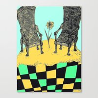 thrones Canvas Prints featuring two thrones by Jacklynn