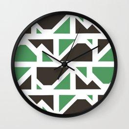 geo-camo Wall Clock