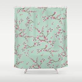 SAKURA  - PRETTY MINT Shower Curtain