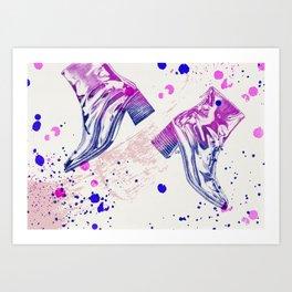 SHINY BOOTS Art Print