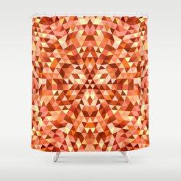 Hot triangle mandala Shower Curtain