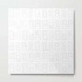 Rectangle Stacks Metal Print