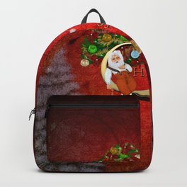 Christmas, Santa Claus with christmas tree Backpack